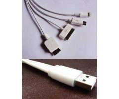 En venta cables para poder cargar cualquier tipo de iphone o android
