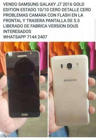 Vendo Samsung Galaxy J7 2016 Gold