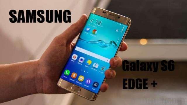 SOLO VENDO, samsung Galaxy S6 Edge Plus Dorado Liberado con Cargador 285 Poco Neg.