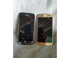 Samsung S7 Flat- Color Oro Y Negro